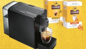 Delizio Viva Kaffeemaschine + 48 Kapseln bei La Semeuse