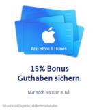 15% Bonus-Guthaben für AppStore und iTunes bei Swisscom (nur Swisscom Kunden)