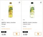 Verschiedene gratis Produkte bei coop online Bestellung