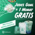 WeRecycle: Bei Aboabschluss jedes EM-Goal = 1 Monat gratis!