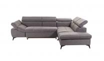Ecksofa Stoff Grau – 279 x 210 x 75cm (B/T/H)