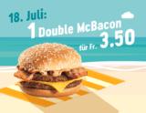 McDonalds Sommerhits – Heute: Double McBacon zum best price von 3.50 CHF