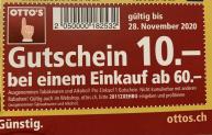 Otto's: CHF 10.- Gutschein ab CHF 60.-