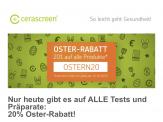 -20% Rabatt auf alle Selbsttests und Nahrungsergänzungsmittel von Cerascreen (Verlängert!)