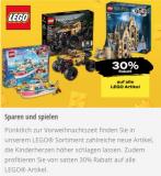 30% Rabatt auf alle Lego Spielware bei Coop, Coop Bau & Hobby und Coop City