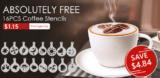 Kaffee Schablonenset zur Verzierung von Milchschaum bei Zapals im Freedeal