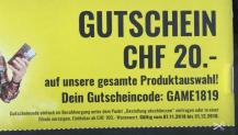 STEG 20.- CHF Gutschein ab 100.- CHF