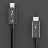 3x CABLETIM Thunderbolt USB 3.1 Kabel Typ C zu C USB Zertifiziert PD 100W 40Gbps