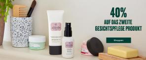 40% auf das zweite Gesichtspflege Produkt bei THE BODY SHOP