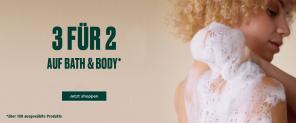 3 für 2 auf Bath & Body bei THE BODY SHOP
