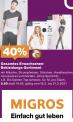 40% Rabatt auf Bekleidung bei Migros auf gesamtes Bekleidungssortiment Do-So