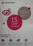 15 Fr. Rabatt auf Kontaktlinsen bei lensvision.ch