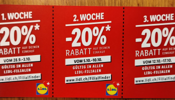 Offline – Lidl Schweiz 3x 20% Rabatt-Gutschein