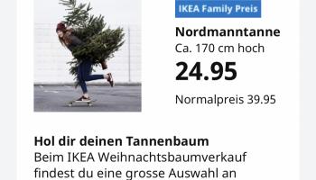 Weihnachtsbaum 170cm für 24.95 bei Ikea für Family Member