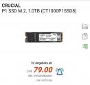 Crucial P1 M.2 NVMe  1 TB bei Digitec für CHF 79.-