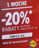 [Raum Zürich/Offline] 20% Rabatt ab 100.- in Lidl Regensdorf