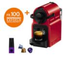 Krups Nespresso Inissia Red + Nespresso-Kapseln für 100.- bei nettoshop