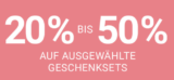 20% bis 50% auf Geschenksets bei der Import Pafümerie