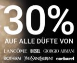 30% auf ALLE Düfte von Lancôme, Diesel, Armani, Biotherm, YSL & Cacharel bei der Import Pafümerie
