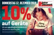Jetzt gültig: Interdiscount 10% auf Geräte 12.12.2019