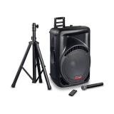 Mac Audio PA1500 Party System (1000W Gesamtleistung, Mikrofon, Lautsprecher, Stativ) bei Steg und Techmania