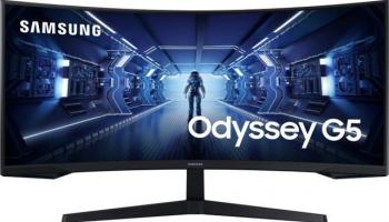 """Samsung Odyssey G5 (LC34G55TWWR) Gaming Monitor (34 """", UWQHD, 165 Hz)"""