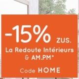 15% zusätzlich auf zahlreiche reduzierte Einrichtungsgegenstände bei La Redoute, z.B. La Redoute Interieurs Sessel Jimi für CHF 234.60 statt CHF 345.-