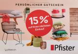 Möbel Pfister 15 % auf nächsten Einkauf