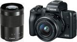 CANON EOS M50 Kit, 15-45mm IS STM + 55-200mm IS STM bei digitec für 699.- CHF
