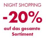 Night Shopping: 20% auf das gesamte Sortiment bei Marionnaud bis 19.08. 9Uhr