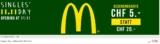 McDonalds Gutschein im Wert von 20.- CHF zum Preis von 5.- CHF