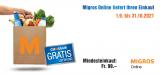 Migros Online: Gratis Versand ab CHF 99.- Rabattcode für Bestandskunden