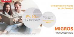 Gutschein CHF 10 (mind. Bestellung CHF 40) bei Migros Photo Service