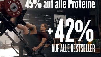 MyProtein: Bis zu 45% auf alle Proteine + 42% auf Bestseller