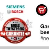 Ausgewählte Haushaltsgeräte von Siemens und Bosch bei nettoshop stark reduziert, z.B. Siemens TE613501DE EQ.6 Kaffeemaschine für CHF 638.90 statt CHF 1350.-