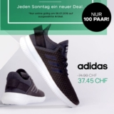 Nur heute: 50% auf ausgewählte Schuhe von adidas bei Dosenbach, z.B. adidas CF QT Flex Damen Sneaker für CHF 37.45 statt CHF 74.90