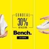 Nur heute: 30% auf alles von Bench bei Ochsner Shoes, z.B. Bench Damen Sneaker für CHF 41.90 statt CHF 59.90