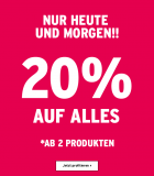 20% auf alles (ab 2 Produkten) bei The Body Shop