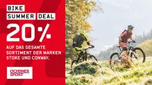 Ochsner Sport: 20% auf das gesamte Bike-Sortiment der Marken Stoke und Conway