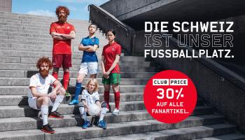 50% Rabatt auf alle Schweizer Fan-Artikel & 30% auf alle weiteren Fanartikel bei Ochsner Sport (Nati-Trikots etc.)