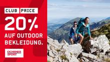 Ochsner Sport: 20% Rabatt auf Outdoor-Bekleidung + 20.- Rabatt ab MBW 99.90