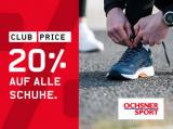 Ochsner Sport: 20% auf alle Schuhe für Club Mitglieder und Neukunden + kombinierbar mit 20.- Gutschein aus NL Anmeldung