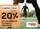 Ochsner Sport: 20% auf das gesamte Fussball-Sortiment & kombinierbar mit Newsletter-Gutschein