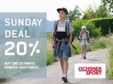 Sunday Deal: 20% auf gesamtes Kinder-Sortiment bei Ochsner Sport + 20.- Rabatt ab 99.90 für Neukunden