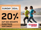 Ochsner Sport: 20% auf das nicht-reduzierte Run&Train Sortiment + Gutscheincode 20.- ab MBW 99.- kombinierbar