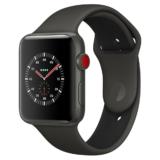 Apple Watch Edition GPS + Cellular (Series 3), 42mm Keramikgehäuse, grau oder weiss mit Sportarmband, Grau/Schwarz (MQM62ZD/A)