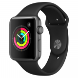Apple GPS Watch Series 3, 42mm Aluminium Space Grau bei Manor