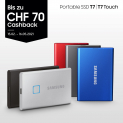 Portable SSD T7 Touch ab 49.- CHF (inkl. CashBack)