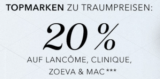 Douglas: 20% auf Lancome, Clinique, Zoeva & MAC