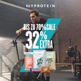 MyProtein: Bis zu 70% Sale + 32% Extra mit Gutschein!